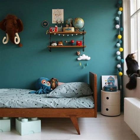 peinture chambre garcon tendance d 233 co chambre bleu canard pour un int 233 rieur serein et agr 233 able