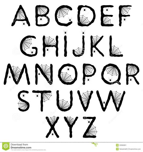 printable halloween alphabet 8 best images of spooky printable halloween letters