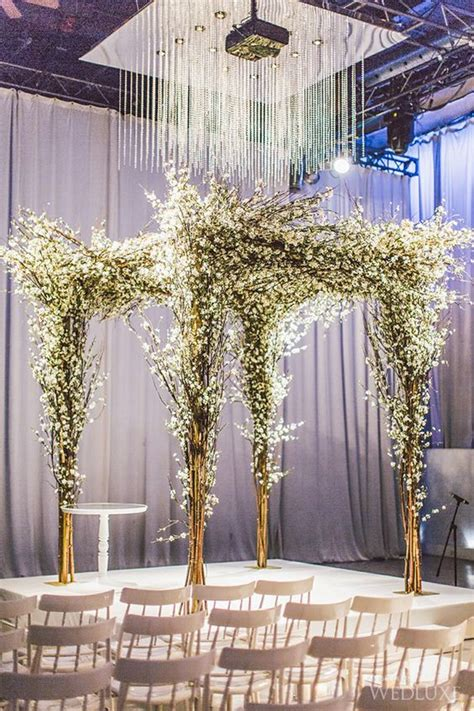 Wedding Ceremony Nuptials by 30 Winter Wedding Arches And Altars To Get Inspired