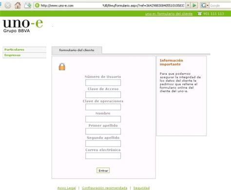 banco uno e telefono phishing online a clientes de la entidad uno e grupo bbva