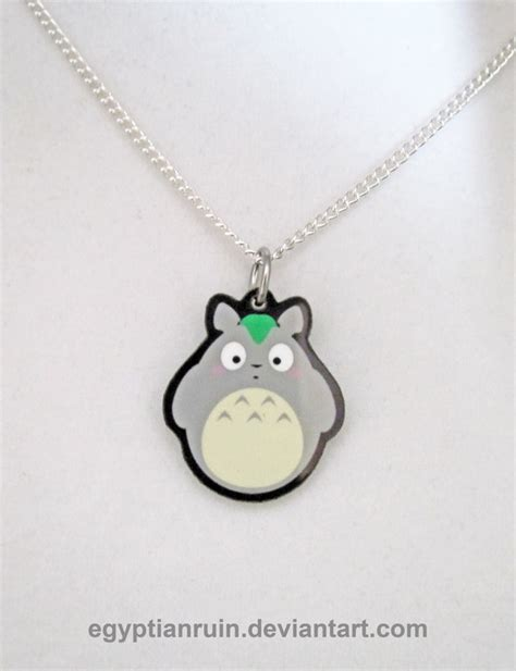 my totoro necklace by egyptianruin on deviantart