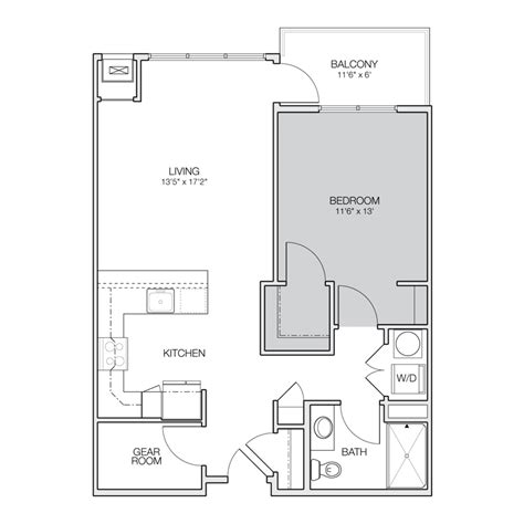 1 bedroom apartment floor plan floor plan a greenbelt apartments