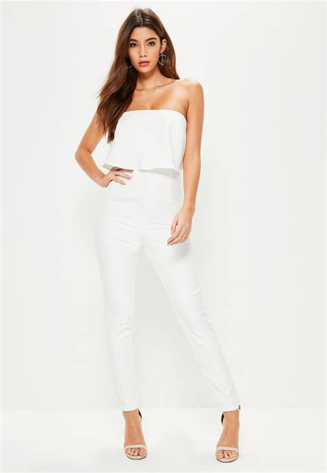 Plain Layer Jumpsuit Elegan Cantik white evening jumpsuit fashion ql