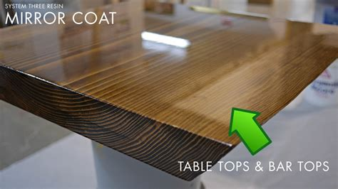 clear coat bar top epoxy resin for table and bar tops by system three resins
