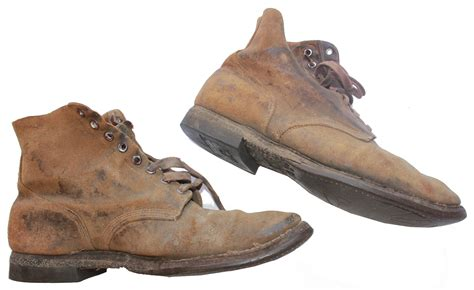 lot detail bradley s personally owned u s marines issued combat boots used at iwo