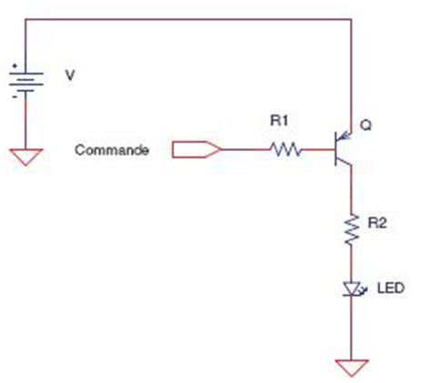 pnp transistor driving led montage 233 lectronique simple led commande simple de led schemas et montages electroniques
