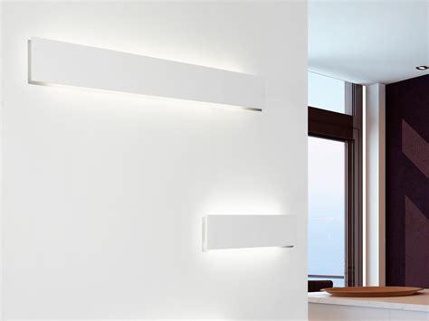 sforzini illuminazione lada da parete a led a luce indiretta in gesso milos by