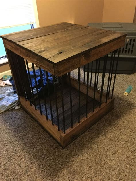 wood  rebar dog crate  completed pinterest projects