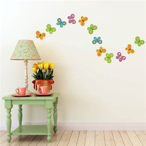 colorful wall stickers colourful butterfly wall stickers by mirrorin