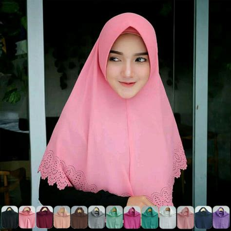 Jilbab Khimar Pet Simple jilbab instan khimar laser pet terbaru 2018 simple