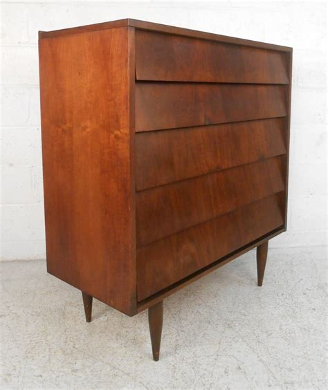 modern walnut furniture mid century modern louvered front walnut dresser by ward