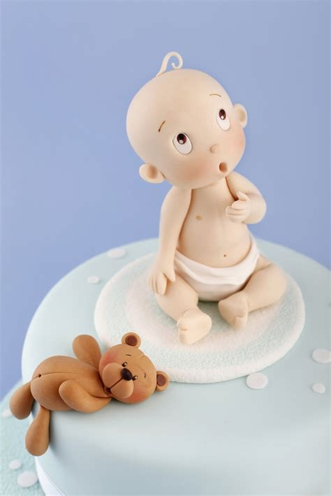 Cute Baby Shower Cakes For A Boy bebe carlos lischetti fondant sugar flowers