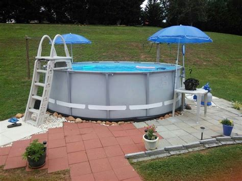 intex soft side pool landscaped  wrapping black soft
