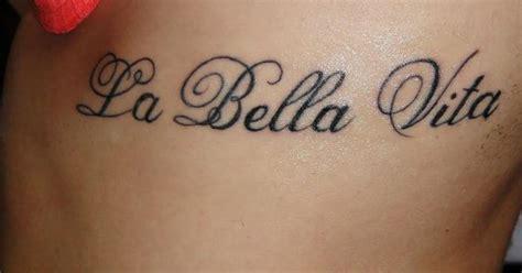 la bella vita tattoo la vita i like the placement interesting