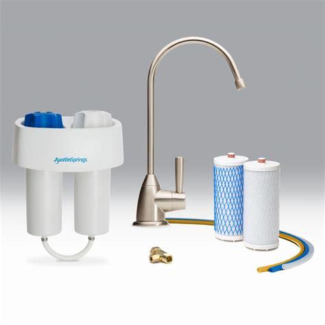 water filter under under counter water filter with brushed nickel faucet