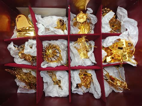 tree ornament collections danbury mint gold ornaments decore