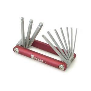 hex key set allen wrench torx set titan tools 10 pc sae ball end