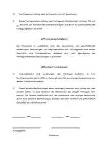 Angebot Der Zusammenarbeit Muster Freelancer Vertrag Muster Zum