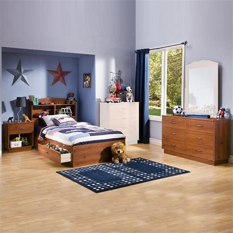 kids bedroom sets for boys south shore logik kids sunny pine twin wood storage bed 4