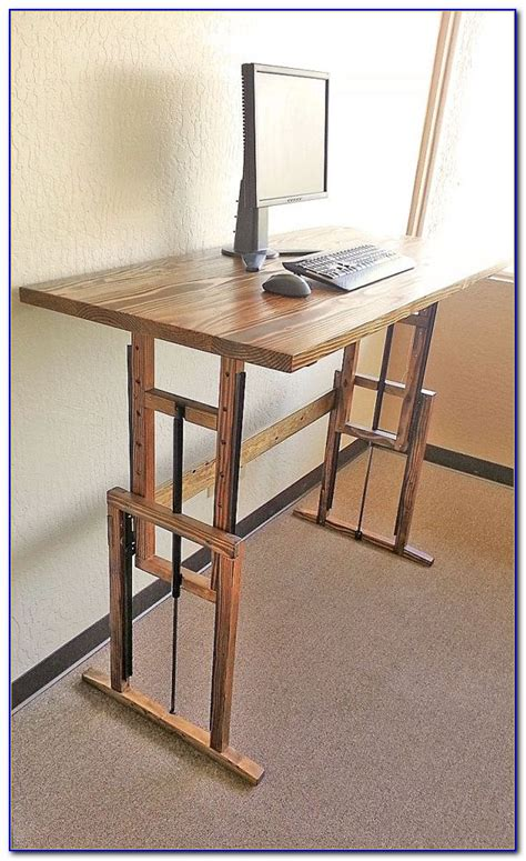 Diy Adjustable Height Computer Desk Desk Home Design Diy Adjustable Height Desk