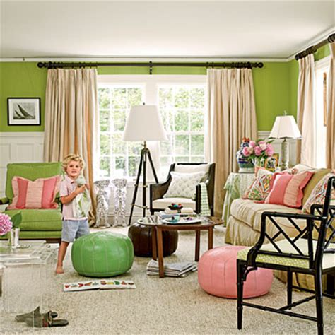 pink and green living room colorful coastal living room in green and pink editors