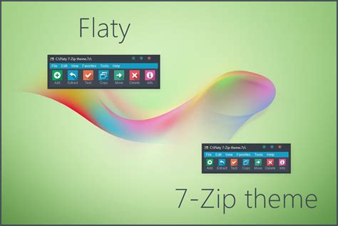 themes for windows 7 zip flaty 7 zip theme by alexgal23 on deviantart