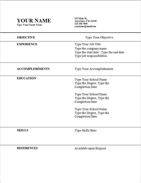 Job Resume Templates by My Perfect Resume Templates