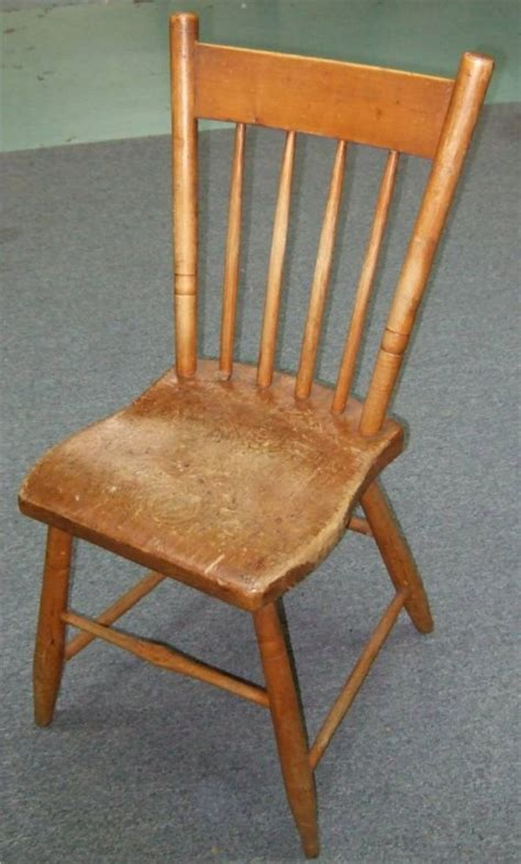 Chair Bottoms by 4157 Plank Bottom Chair Spindle Back Lot 4157