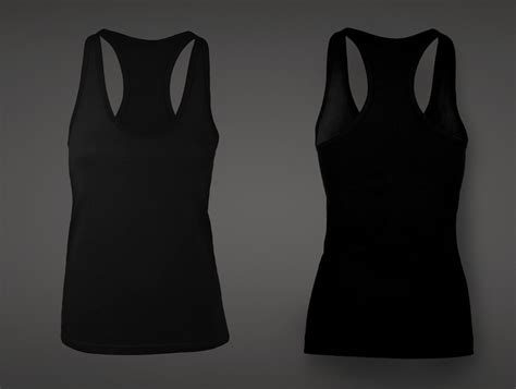 s tank top template black tank top template vector www imgkid the
