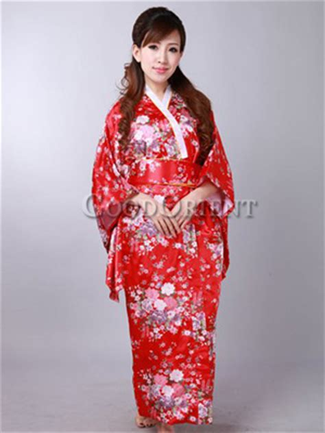 traditional cheap japanese clothing with flower print in