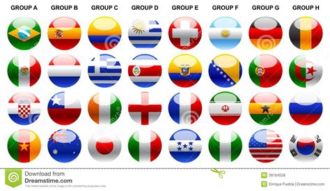 printable flags of the world cup 2014 flags world cup 2014 stock vector image of world style