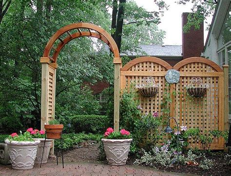 Garden Arches And Trellises Privacy Screen For A Back Patio Built