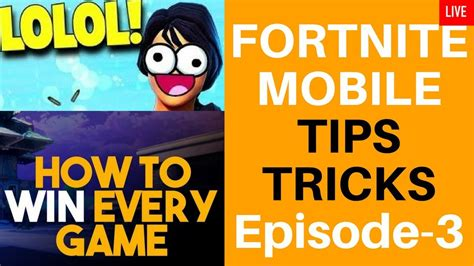 tricks  fortnite mobilebest fortnite tipssolops
