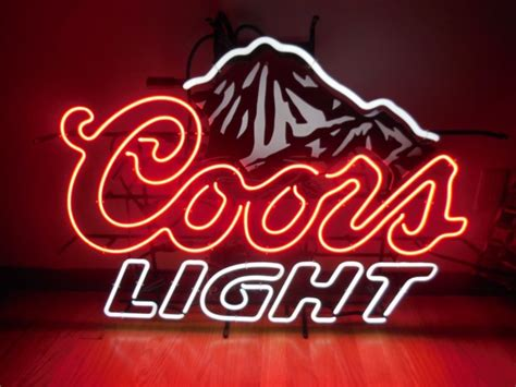 vintage coors light neon sign coors neon signs shop collectibles daily
