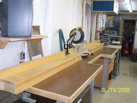 chop saw bench completed miter saw bench by stanleywc lumberjocks