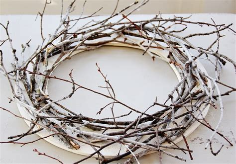 how to make a tree out of sticks twig wreath infarrantly creative