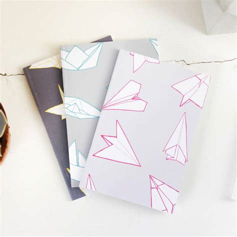 Origami With Pocket - origami pattern a6 pocket notebooks by sparrow and wolf