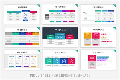 design powerpoint table price table powerpoint template by brandearth