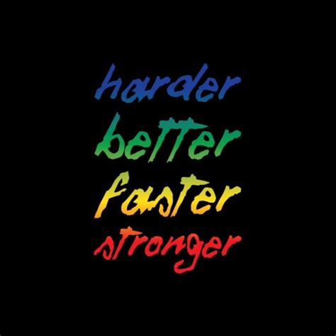 daft better faster stronger t shirt daft harder better faster stronger white