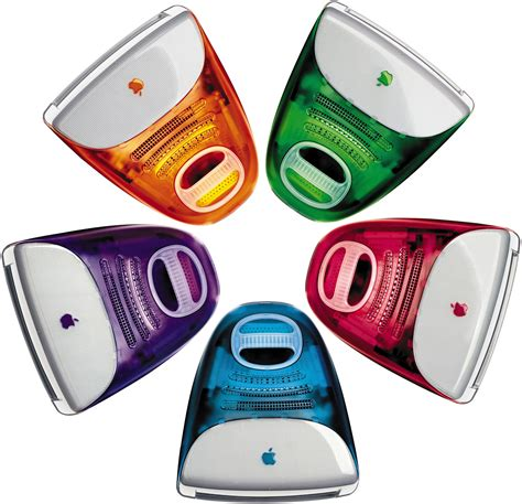 colorful mac computer why and only imacs were colored with