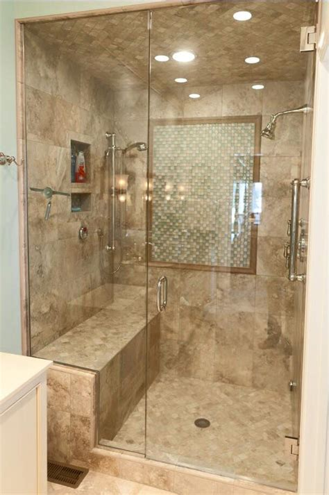 tiled showers with bench check out this lovely tile shower we did it has a nice