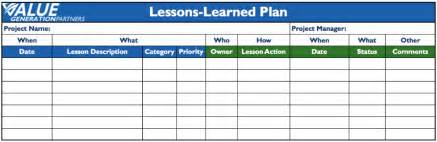 pmbok lessons learned template 28 lessons learned template pmbok rethinking