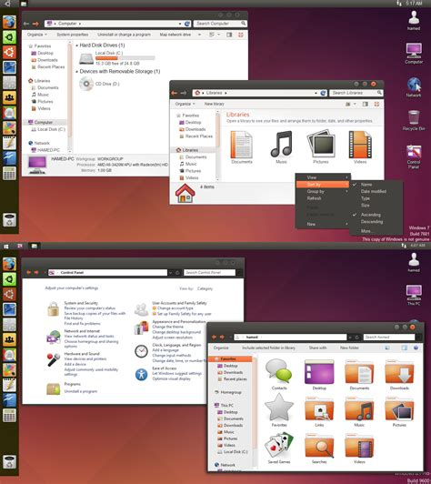 ubuntu themes for windows 8 1 ubuntu 3 0 skinpack for windows 7 8 1 windows10 themes