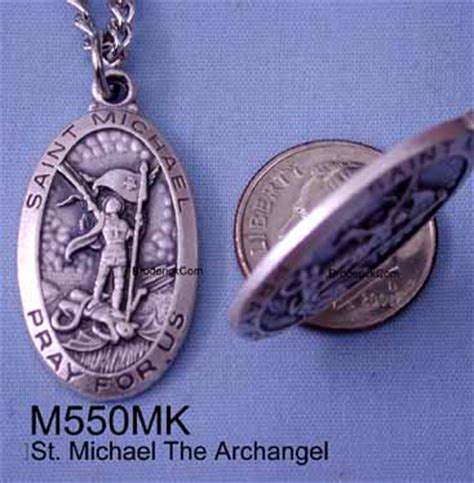 St Michael Medal For Officers by St Michael Michael Medal Oxidized Medal Steel Chain