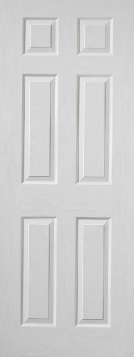 White 6 Panel Interior Doors Colonist 6 Panel White Moulded Door Kens Yard