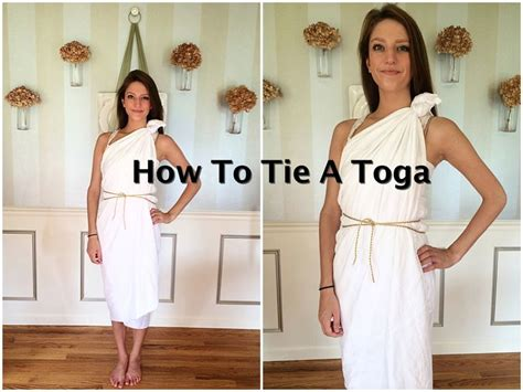 How To Make A Dress Out Of Wrapping Paper - how to tie a toga tutorial diy