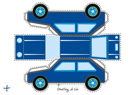 membuat prakarya mobil dari kardus belajar transportasi miniatur jalan raya friso