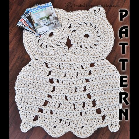 owl shaped rug rope owl rug pattern crochet pattern owl decor patterns floral doors and listing