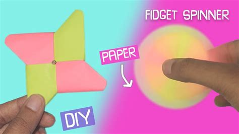 How To Make Paper Glue At Home - diy fidget spinner using only paper easy craft