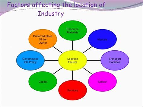 factors of industry location secondary economic 2 new